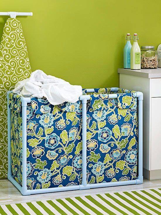 Buat menampung baju-baju kotor pun bisa lho pulsker. Selain menggunakan pipa paralon, kalau dirumah ada kain tak terpakai bisa tambahkan untuk menutup bagian sisi-sisinya ya pulsker.