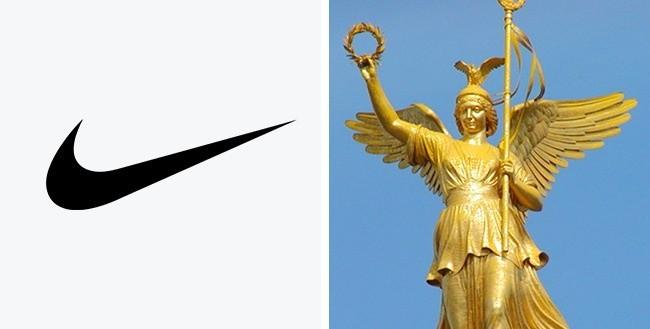 Logo ini merupakan simbol yang terkenal didunia yang mewakili sayap Dewi Nike Yunani yang biasa menginspirasi para pejuang untuk meraih menang.