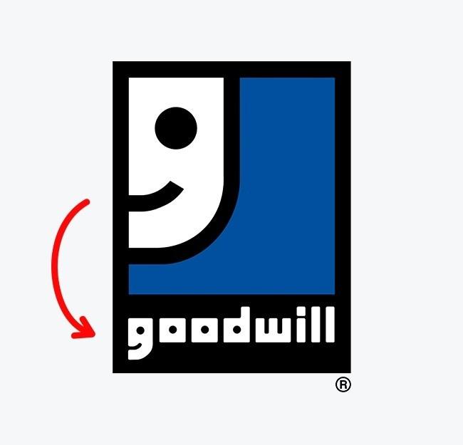Ini adalah logo nirlaba yang terkenal di dunia yang mengumpulkan sumbangan untuk membantu yang membutuhkan. Coba Pulsker amati huruf G pada logo! Dari jauh huruf tersebut menyerupai wajah yang bahagia.
