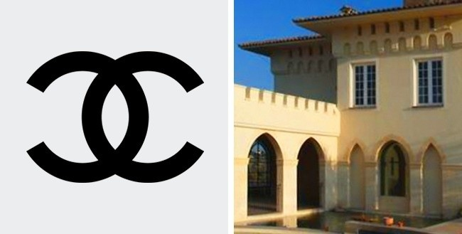 Kisah ciptaan logo ini sangat spesial dan roamntis. Menurut salah satu legenda yang populer, simbol yang terkenal di dunia itu terinspirasi oleh lengkungan kubah istana. Banyak yang menunjukkan keajaiban huruf sejak CC mewakili kedua huruf pertama atas nama kastil dan inisial Coco.