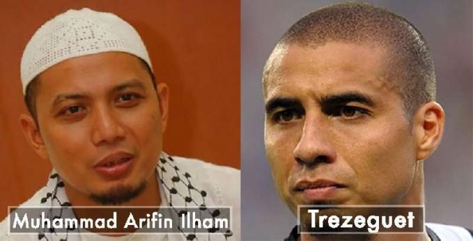 Dilihat dari wajahnya Ustadz Muhammad Arifin Ilham yang sangat mirip dengan Trezeguest pemain dari Juventus.