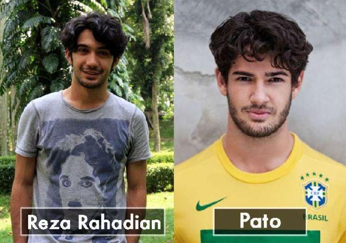 Karena rambut yang sama dan juga jenggot yang sama Reza Rahardian terlihat sangat mirip dengan Pato pemain sepak bola dari Brazil.