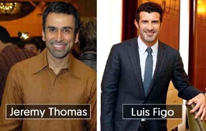 Dilihat dari wajah dan pesonanya artis senior Jeremy Thomas ini benar-benar terlihat sangat mirip dengan Luis Figo pemain sepak bola dari Portugal.