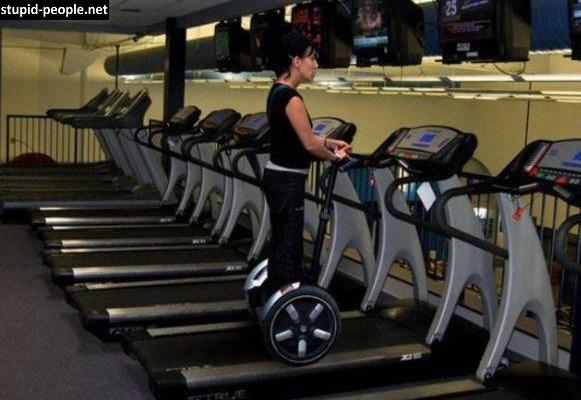 Diatas treadmill masih pakai wheel scooter??