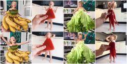 Keren Banget..Ibu Ini Menyulap Buah dan Sayuran Jadi Pakaian Anaknya (10 Foto)