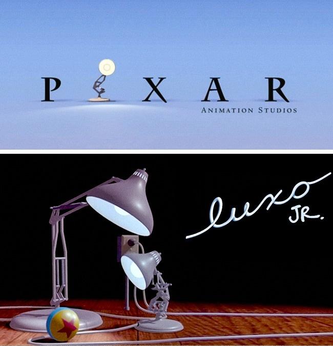 Logo studio Pixar ternyata terinspirasi dari karakter tokoh lampu 'Luxo Jr' dalam sebuah film pendek yang dibuat pada 1986 lalu pulsker.