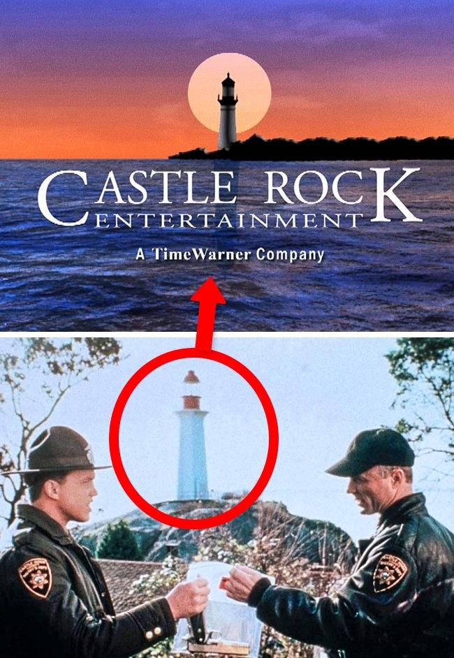 Castle Rock Entertainment kini berada dibawah naungan Warner Bros. Tapi dulu di era 1980-an Castle Rock Entertainment berdiri sendiri dan namanya terinspirasi dari novel Stephen King pulsker. Dan logo menara suar tersebut diilhami dari salah satu adegan di film horor 'Needful Things' tahun 1993.