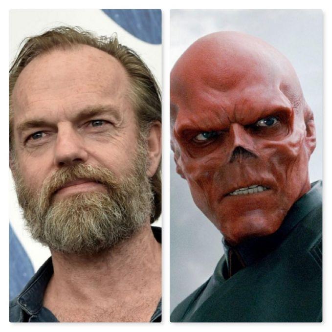 Inget nggak siapa pemeran Red Skull di film 'Captain America: The First Avenger' tahun 2011?. Dia adalah Hugo Weaving pulsker. Kepalanya sebenarnya nggak plontos kok.
