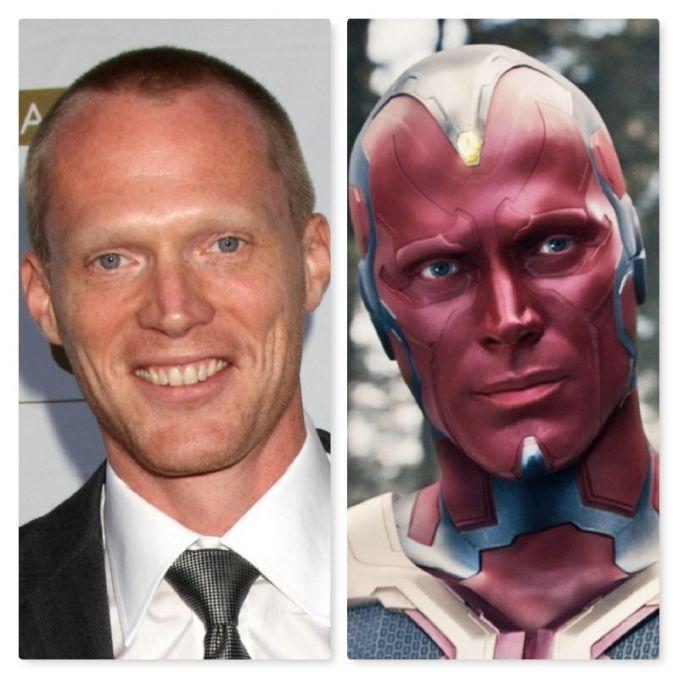 Ada juga Paul Bettany sebagai Vision dalam film 'Avengers: Age of Ultron' tahun 2015. Dia malah lebih ganteng pas jadi Vision deh pulsker. Gimana, udah tau kan pulsker para pemeran tokoh Marvel di film?. Beda banget kan wajah aslinya sama di filmnya?.