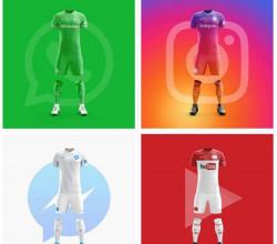 Tampilan Jersey Perusahaan Teknologi dan Aplikasi Terkenal di Dunia Kalau Punya Tim Sepakbola, Keren Juga Ya?