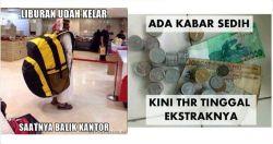 Kumpulan Meme Setelah Lebaran Ini Bikin Kamu Kangen Ramadhan