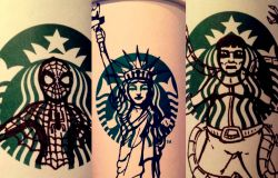Walaupun Cuma Corat-Coret, 10 Gambar di Gelas Kopi Starbucks Ini Kerennya Bukan Main