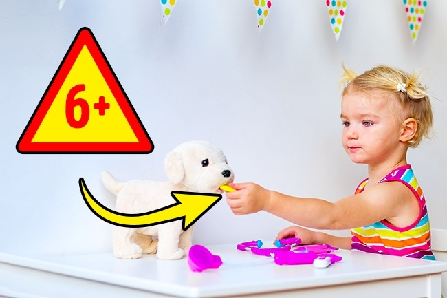 Permainan dokter-dokteran Banyak permainan yang terbuat dari plastik tidak aman bagi anak-anak, karena bagian-bagian kecil dari permainan ini bisa masuk ke hidung dan masuk ke bagian pernapasan. Selain itu, permainan dokter-dokteran ini bisa membangkitkan minat anak-anak terhadap jarum suntik, gunting dan obat-obatan sungguhan.