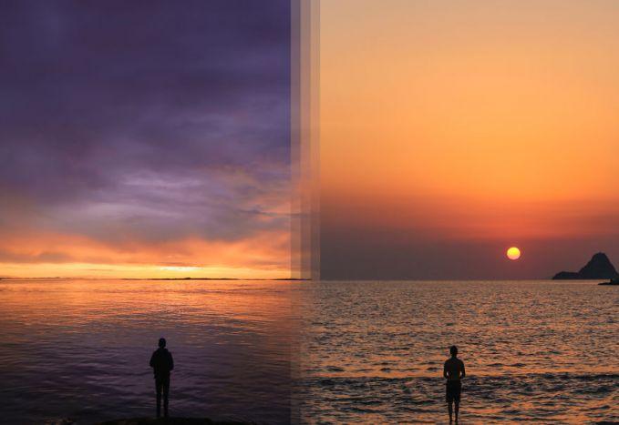 Sunries di Vancouver, Kanada sama sunrise di Pulau Poros, Yunani lebih keren mana nih pulsker?.