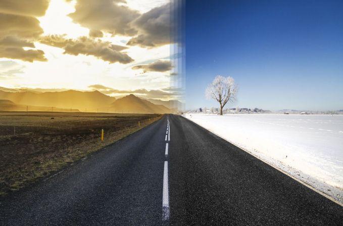 Musim panas di Islandia dan musim dingin di Jerman digabungin jadinya kontras banget.