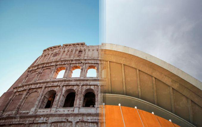 Terkahir ada gabungan dua bangunan dengan arsitektur jaman dulu di Italia dan Jerman. Wah, ternyata keren juga ya pulsker kalau dua foto keren pas traveling digabungin jadi satu. Tertarik juga buat mencobanya?.