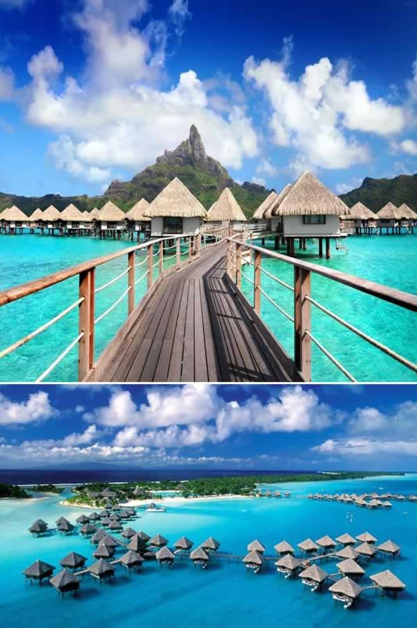 Resort Le Meridien Bora Bora Hotel berada sekitar sembilan kilometer dari bandara Bora Bora di Polinesia Perancis. Butuh waktu 15 menit menuju resort dari bandara dengan menggunakan perahu boat. Kalau dari Tahiti, lokasinya berjarak 240 kilometer. Disana kalian juga bisa menikmati situs-situs bersejarah peninggalan Perang Dunia II.