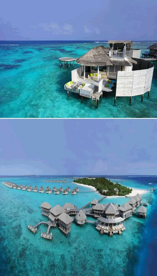 Nggak salah deh kalau Maldives disebut sebagai surga bawah laut yang super keren dan romantis. Di atol Laamu, ada resort Six Senses Laamu yang wajib kalian kunjungi pas liburan ke Maldives. Ngeliat fotonya aja jadi pengen banget kesana ya pulsker.