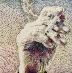 Nyangka Nggak Kalau Lukisan yang Kamu Lihat Ini Dibuat dari Ribuan Paku Berwarna-Warni ?