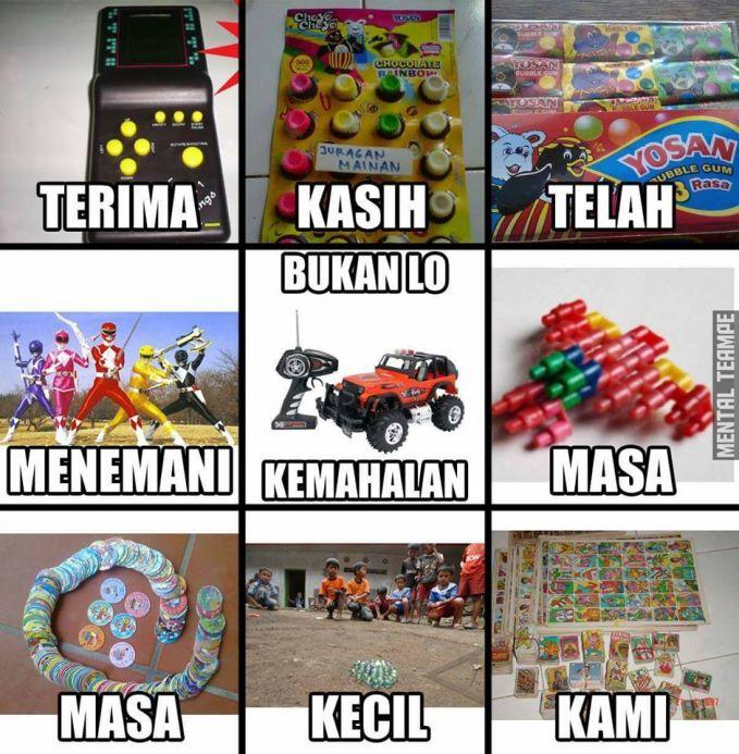 Anak 90-an pasti tahu banget sama kumpulan mainan ini, sayangnya kamu nggak bisa menikmati permainan mobil yang tengah karena kemahalan. Bener kan?