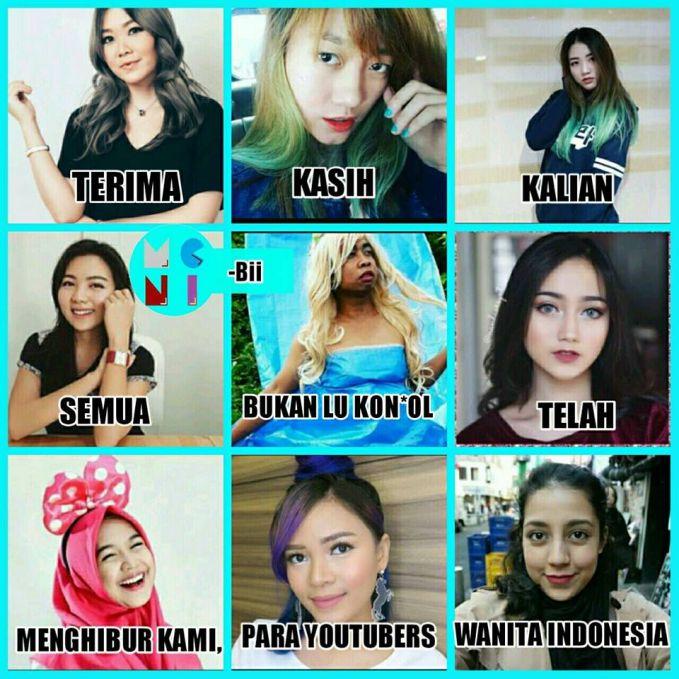 Ini kumpulan para Youtuber cantik, tapi yang tengah malah bikin sawan :D