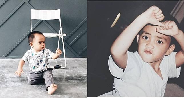 Sejak baru lahir wajah Sekala anak dari Ayudya Bing Slamet ternyata keturunan dari Papa Ditto.