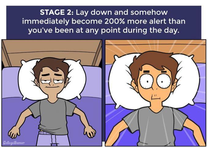Saat rebahan dikasur, bukannya mengantuk kamu malah sangat bersemangat untuk mengerjakan sesuatu. Padahal keesokan pagi ada pekerjaan yang menunggumu.