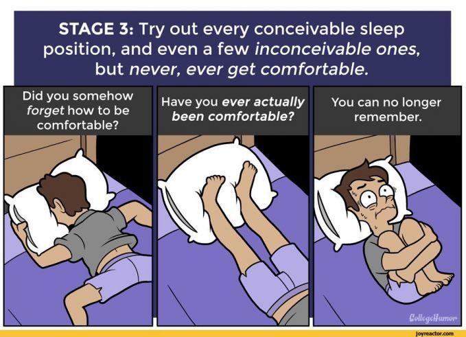 Sampai-sampai kamu mencoba berbagai posisi supaya bisa tertidur. Tapi sayangnya semua hanya percuma.