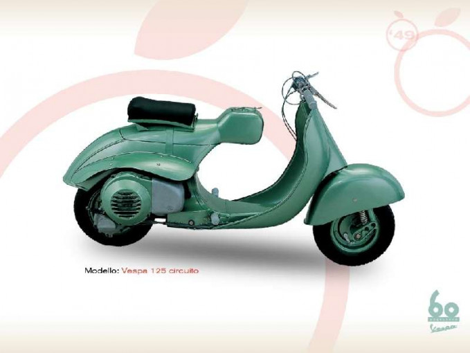 Tahun 1949 muncul vespa terbaru dengan model unik. Kapasitasnya juga cukup gede Pulsker, 125 cc. Vespa ini adalah Vespa 125 Circuito yang gesit dan bertenaga di kelasnya.