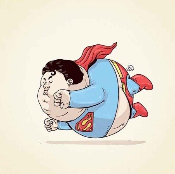 Takutnya sih Superman terbangnya jadi rendah gegara buncit. Wkwkwkw