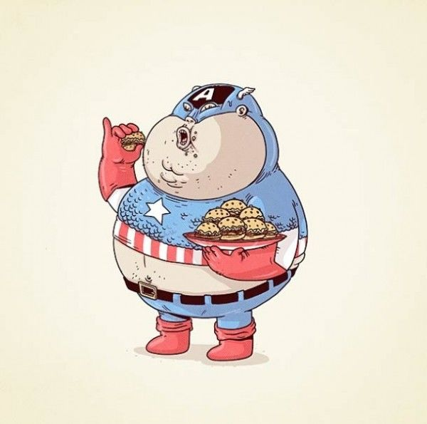 Lah, triggered deh liat Captain America yang badannya atletis jadi buncit dan chubby.