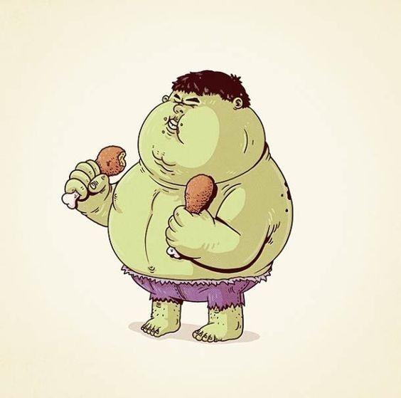 Wahwahwah, ternyata si Om Hulk suka mampir di fast food sebelah nih Pulsker...