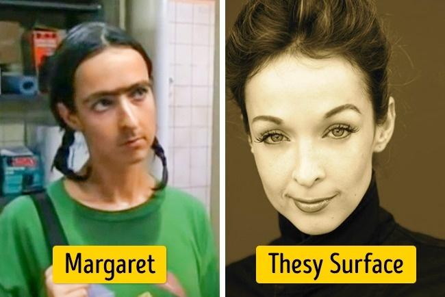 Wajah Thesy Surface banyak yang bilang culun banget deh saat berperan dalam 'It's Always Sunny in Philadelphia'. Dalam film tersebut dia memerankan sosok Margaret. Emang Pulsker, totalitas dalam sebuah pekerjaan diperlukan banget. Terutama dalam dunia seni peran seperti yang dilakukan 7 aktris cantik tersebut.