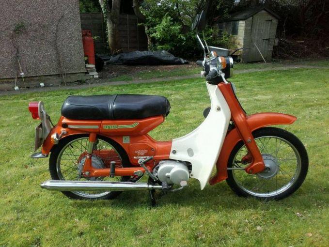 Setelah sukses dengan Yamaha U7, Yamaha meluncurkan motor bebek lainnya di era 70-an hingga awal 80-an. Yakni Yamaha V75 yang juga dikenal dengan Yamaha Minthi alias Yamaha Kecil karena bodinya. Motor ini sekarang dijual mulai harga Rp. 5 jutaan juga Pulsker.