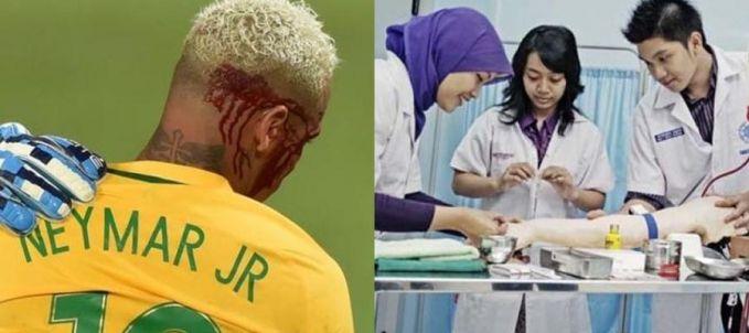 Buat yang pingin sekolah di kedokteran, ajuin proposal gih sono ke Neymar. Karena gajinya selama sebulan dapet buat membiayai 1600 mahasiswa/i kedokteran. Oh, shittt...