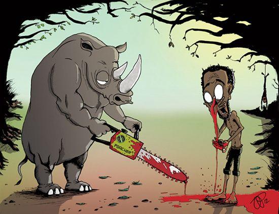 Kalo badak diambil culanya, emang mau manusia diambil hidungnya sama badak?