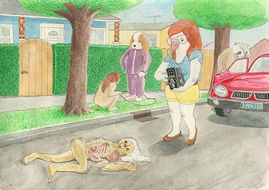 Manusia yang dibiarkan begitu saja di tengah jalan saat tertabrak kendaraan.