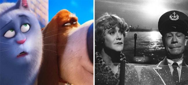 Salah satu scene di film kartun The Secrets Life of Pets, menyerupai salah satu scene film terkenal yaitu Some Like It Hot, Pop juga mengatakan kata Nobody's perfect pada Chloe yang juga sama persis dengan film lawas itu.