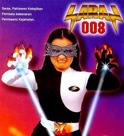 Selain Panji, ada juga super woman dari Indonesia yaitu Saras 008.