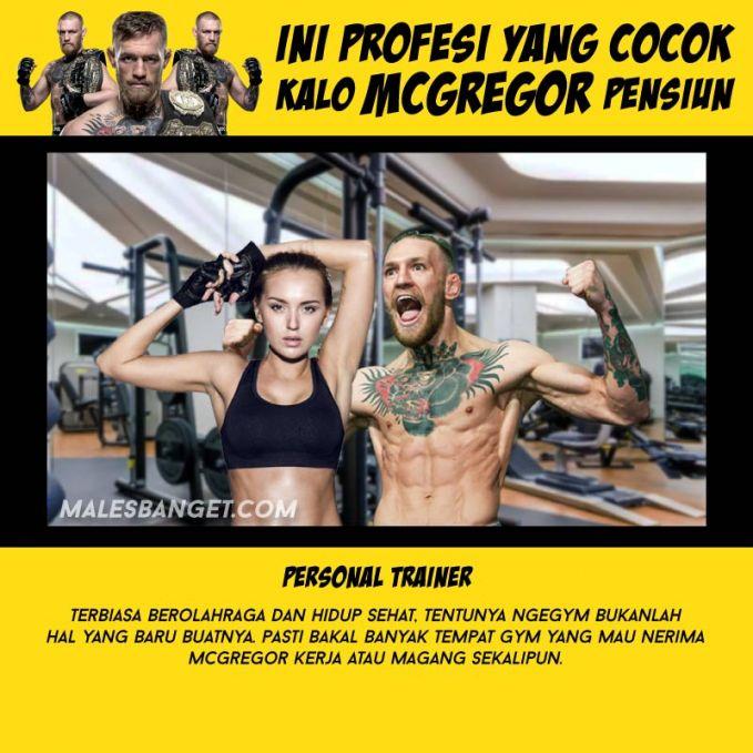 Namanya atlet, badan bugar dan kekar udah pasti. Rajin olahraga pula, pasti banyak tempat gym yan membutuhkan jasanya sebagai trainer.
