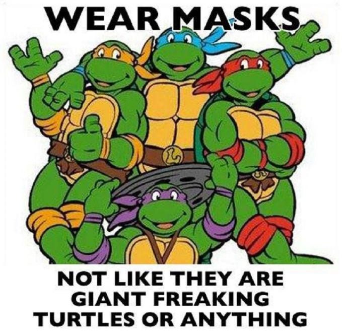 Emang ada kura-kura bentuknya mirip manusia?. Ini kura-kura apa manusia yang pakai kostum kura-kura?. Atau jangan-jangan siluman kura-kura?.