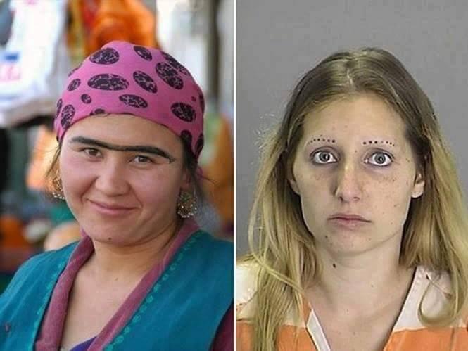 Beda orang memang beda selera tentang bentuk alis, seperti kedua orang ini contohnya.