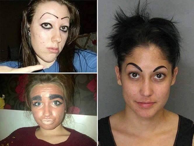 Kalau kamu memilih model alis yang mana diantara ketiga wanita ini?