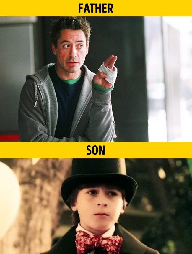 Kali ini ayah dan anak. Yaitu Robert Downey Jr. dan Indio Falconer Downey pada film Kiss Kiss Bang Bang.