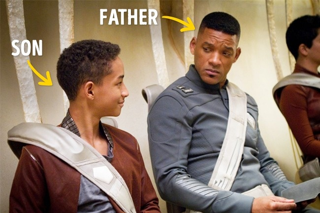 Lalu ada aktor legendaris Will Smith dan anaknya Jaden Smith pada film After Earth di tahun 2013.