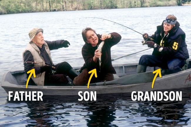 Lalu ada Kakek-Ayah-Cucu dari keluarga Douglas yang sama-sama membintangi film It Ruins in the Family di tahun 2003.