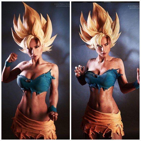 Begini jadinya kalau sosok Goku versi ceweknya. Seksi juga ya !.