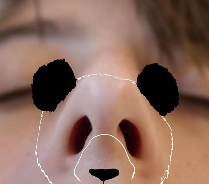 Kedua lubang hidung bisa menjadi dua mata pada doodle kepala pandanya lho Pulsker.
