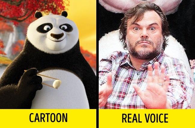 Jack Black yang mengisi suara Po dalam serial Kung Fu Panda. Jack mengatakan bahwa Po merupakan versi muda dirinya.