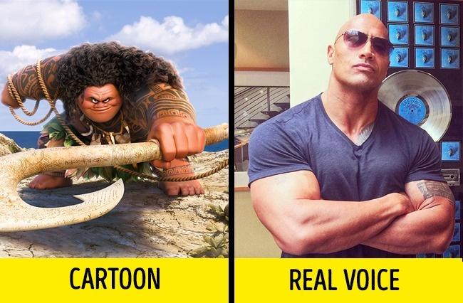 Sama-sama berbadan besar, Dwayne The Rock Johnson ternyata mengisi suara Maui dalam film kartun terkenal baru-baru ini, Moana.